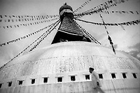 Boudhanath stupa, Kathmandu, 1999. Purchase as a 10x8in archival inkjet print. Price: £100. All proceeds from sale of this image will go to the DEC Nepal Earthquake emergency appeal, as seen at: http://www.dec.org.uk/appeal/nepal-earthquake-appeal