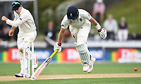 2nd December, Hamilton, New Zealand; England's Joe Root just makes his ground on day 4 of the 2nd test cricket match between New Zealand and England  at Seddon Park, Hamilton, New Zealand.