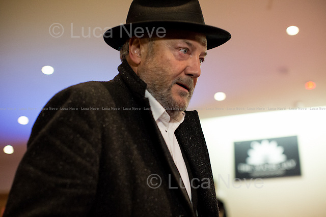 George Galloway MP (British politician, writer, and broadcaster, and the Respect Party Member of Parliament for Bradford West).<br /> <br /> London, 12/11/2014. Today, an &quot;emergency meeting&quot; was called in Tower Hamlets to discuss the ongoing dispute between the Secretary of State for Communities and Local Government Erick Pickles (Conservative Member of Parliament for Brentwood) and the twice elected Mayor of Tower Hamlets Lutfur Rahman. Less than 2 weeks ago Pickles defined Tower Hamlets as a &lt;&lt;rotten borough&gt;&gt; and &lt;&lt;told the Commons that Rahman had dispensed public money like a &quot;medieval monarch&quot; and oversaw an administration that was &quot;at best dysfunctional, at worst riddled with cronyism and corruption&quot;&gt;&gt; (source the Guardian http://bit.ly/1x1u7Z2). So the Communities Secretary decided to take over the administration of the East London council for the next two years actually commissioning the Council. From the press release of the organisers of the meeting: &lt;&lt;Eric Pickles this week ordered his attack dogs into Tower Hamlets despite his own report finding no evidence of fraud and corruption. His councils and government are ridden with corruption- it's not fairness he cares about but undermining our community. The Tories hate Tower Hamlets because it stood alone in putting residents before big business and funding our future&gt;&gt;.<br /> <br /> To sign the petition please click here: http://chn.ge/1xyLf8x