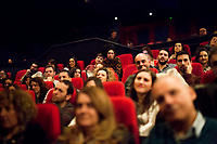 """London, 25/03/2017. Today, CinemaItaliauk held the premiere of the Italian movie """"In Guerra Per Amore"""" (At War With Love) at the Genesis Cinema in London's Whitechapel (On London's 11 Best Independent Cinemas list). Special guest of the event was the Director and main actor of the movie Pif (Aka Pierfrancesco Diliberto, Italian television host and film director and actor and writer) who held a Q&A with Clare Longrigg, deputy Editor of the Guardian. After the success with """"The Mafia Kills Only in Summer"""" (2013), Pif is back with a love comedy based on true facts in which the Sicilian Director shows the agreement, made during World War II between the US Army and the Sicilian mafia, to invade and occupy Sicily without provoking any trouble, re-establishing the criminal power of """"Cosa Nostra"""" on the Italian southern island. <br /> <br /> For more information please click here: http://www.imdb.com/title/tt5263116/ & https://www.facebook.com/events/237675699972952/ & https://www.facebook.com/CinemaItaliaUk/"""