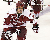 Steven Guzzo (UMass - 9) - The Boston College Eagles defeated the visiting University of Massachusetts-Amherst Minutemen 2-1 in the opening game of their 2012 Hockey East quarterfinal matchup on Friday, March 9, 2012, at Kelley Rink at Conte Forum in Chestnut Hill, Massachusetts.