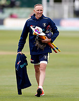 Allan Donald takes a training session during day 2 of the Specsavers County Championship Div 2 game between Kent and Sussex at the St Lawrence Ground, Canterbury, on May 12, 2018