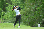 HOUSTON, TX - MAY 19: Seher Atwal of Rollins College tees off during the Division II Women's Golf Championship held at Bay Oaks Country Club on May 19, 2018 in Houston, Texas. Atwal finished tied for seventh place with seven over par score of 295. (Photo by Justin Tafoya/NCAA Photos via Getty Images)