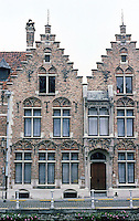 Bruges: Flemish Step-Gable Houses, 17th C. Photo '87.