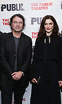 """Director David Leveaux and Rachel Weisz during the Off-Broadway Opening Night performance party for """"Plenty""""  at the Public Theatre on October 20, 2016 in New York City."""