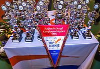 Wateringen, The Netherlands, December 15,  2019, De Rhijenhof , NOJK juniors doubles , Trophy's<br /> Photo: www.tennisimages.com/Henk Koster