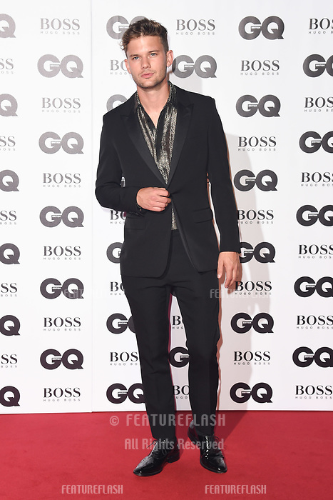 LONDON, UK. September 05, 2018: Jeremy Irvine at the GQ Men of the Year Awards 2018 at the Tate Modern, London