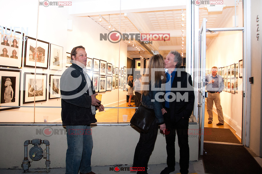 "Bob Gruen outside at the Bob Gruen ""Rock Seen"" photo exhibition at Art629 in New York City. May 4, 2012. ©Kristen Driscoll/MediaPunch Inc."
