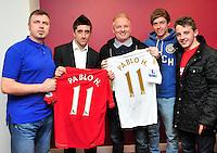 Swansea city fc sponsor awards... saturday 19th may 2013...<br /> <br /> <br /> <br /> Pablo Hernandez.