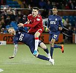 12.02.2020 Kilmarnock v Rangers: Alan Power tackles Ianis Hagi