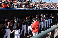 The Oregon State Beavers before a game against the Gonzaga Bulldogs on February 16, 2019 at Surprise Stadium in Surprise, Arizona. Oregon State defeated Gonzaga 9-3. (Zachary Lucy/Four Seam Images)