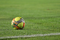 BOGOTA-06-12-2012. Balón de fútbol sobre gramilla. Soccer Ball on the field. Photo: VizzorImage