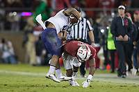 STANFORD, CA - November 10, 2017: Alameen Murphy at Stanford Stadium. The Stanford Cardinal defeated the Washington Huskies, 30-22.