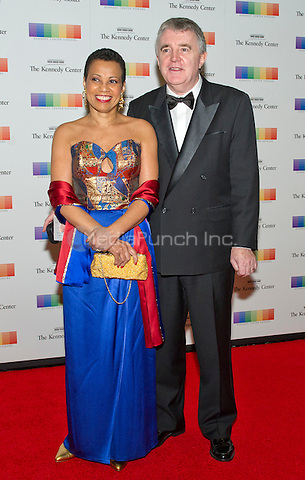 Harolyn Blackwell and Peter Greer arrive for the formal Artist's Dinner honoring the recipients of the 38th Annual Kennedy Center Honors hosted by United States Secretary of State John F. Kerry at the U.S. Department of State in Washington, D.C. on Saturday, December 5, 2015. The 2015 honorees are: singer-songwriter Carole King, filmmaker George Lucas, actress and singer Rita Moreno, conductor Seiji Ozawa, and actress and Broadway star Cicely Tyson.<br /> Credit: Ron Sachs / Pool via CNP/MediaPunch