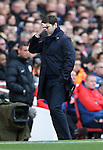 Tottenham's Mauricio Pochettino looks on dejected during the Premier League match at the Emirates Stadium, London. Picture date November 6th, 2016 Pic David Klein/Sportimage