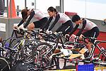Japan team group (JPN), <br /> AUGUST 28, 2018 - Cycling - Track : Jakarta International Velodrome during the 2018 Jakarta Palembang Asian Games in Jakarta, Indonesia. <br /> (Photo by MATSUO.K/AFLO SPORT)