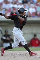 May 25, 2008: Quad Cities River Bandits Adron Chambers (24) at bat against the Kane County Cougars at Elfstrom Stadium in Geneva, IL. Photo by: Chris Proctor/Four Seam Images