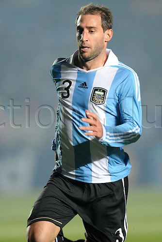 07.07.2011 Copa America Group A Argentina v Columbia. Host nation Argentina remain without a win at this years tournament after escaping from their clash with Colombia with a draw. Picture shows Pablo Javier Zabaleta.