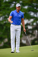 Henrik Stenson (SWE) after sinking his putt on 4 during Friday's round 2 of the PGA Championship at the Quail Hollow Club in Charlotte, North Carolina. 8/11/2017.<br /> Picture: Golffile | Ken Murray<br /> <br /> <br /> All photo usage must carry mandatory copyright credit (&copy; Golffile | Ken Murray)