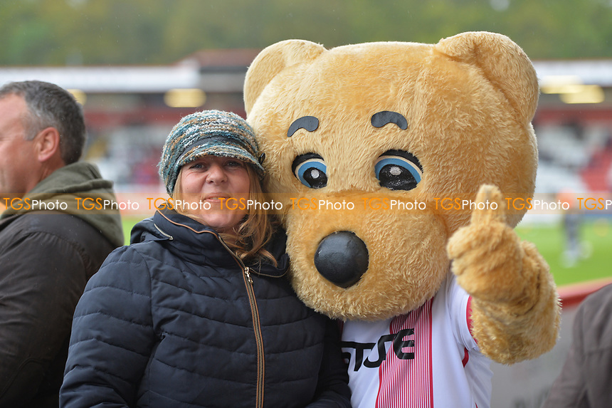 Bro bear during Stevenage vs Exeter City, Sky Bet EFL League 2 Football at the Lamex Stadium on 28th April 2018