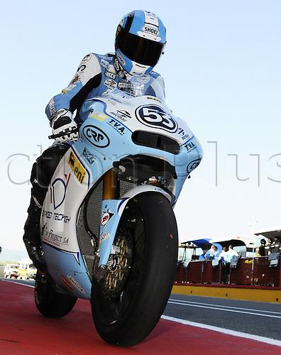 06 06 2010 Valentin Debise FRA ADV. Moto2 class, 600cc spec Honda eninges in prototype chassis. Gran Premio d'Italia TIM, Mugello circuit, Italy.