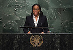 DOMINiCA<br /> Her Excellency Francine BARONMinister for Foreign Affairs andCARICOM Affairs<br /> GA 28th plenary meeting