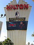 BBARRY MANILOW - MUSIC AND PASSION.playing at the Vegas Hilton Hotel in Las Vegas, Nevada..(Hotel / Theatre Marquee / Star Trek The Experience ).July 7, 2005