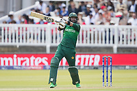 Imad Wasim (Pakistan) goes over the top and collets four runs forward of point during Pakistan vs Bangladesh, ICC World Cup Cricket at Lord's Cricket Ground on 5th July 2019