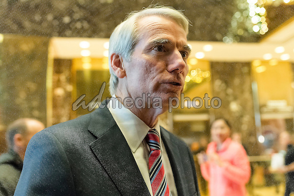 United States Senator Robert Portman (Republican of Ohio) is seen upon his arrival at Trump Tower in New York, NY, USA on December 14, 2016. Photo Credit: Albin Lohr-Jones/CNP/AdMedia