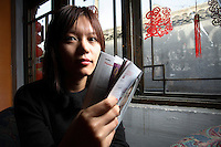 "Chung Shu, author of ""Beijing Doll"", photographed near her home in Beijing, China on 18 March, 2008."
