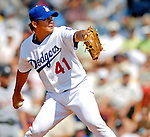 13 March 2007: Los Angeles Dodgers pitcher Chin-hui Tsao on the mound against the Detroit Tigers in a spring training game at Holman Stadium in Vero Beach, Florida.<br /> <br /> Mandatory Photo Credit: Ed Wolfstein Photo