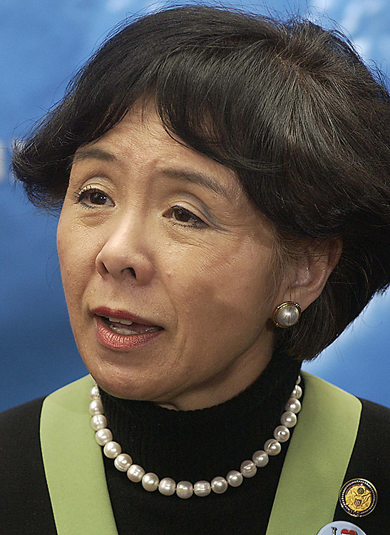 03/16/05.SOCIAL SECURITY--Rep. Doris Matsui, D-Calif., before a news conference/rally of House and Senate Democrats on the president's campaign on social security and his proposal to create personal investment accounts within Social Security..CONGRESSIONAL QUARTERLY PHOTO BY SCOTT J. FERRELL