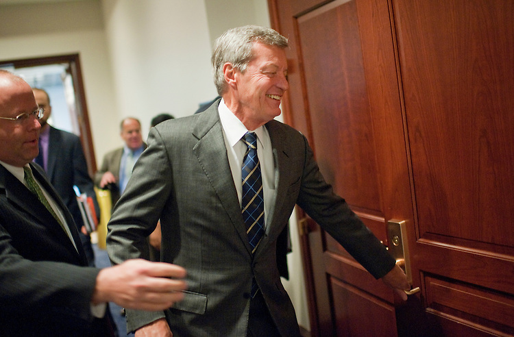 UNITED STATES - OCTOBER 04:  Sen. Max Baucus, D-Mont., arrives to a meeting of the Joint Committee on Deficit Reduction, also known as the super committee, in the Capitol Visitor Center.  (Photo By Tom Williams/Roll Call)