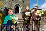 Sean O'Leary with Fr Vincent Finnegan and Fr Anthony Jukes who will be blessing of the Lilys online from Killarney Friary