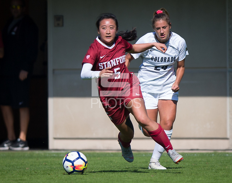 STANFORD, CA - October 21, 2018: Michelle Xiao at Laird Q. Cagan Stadium. No. 1 Stanford Cardinal defeated No. 15 Colorado Buffaloes 7-0 on Senior Day.