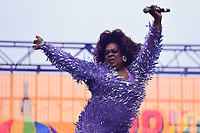 Washington, DC - June 9, 2019: Drag Queen Ella Fitgerald performs at the Capital Pride concert in Washington, DC June 9, 2019. (Photo by Don Baxter/Media Images International)