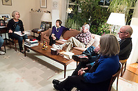 Former Massachusetts governor Michael Dukakis and his wife Kitty Dukakis pose for a portrait in their home in Brookline, Massachusetts, USA, on Sun., Dec. 4, 2016. Kitty Dukakis used electroconvulsive therapy (ECT) to treat depression and substance abuse issues. The pair lead a regular support group for people undergoing or thinking about ECT.