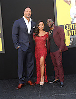 "10 June 2016 - Los Angeles, California - Dwayne 'The Rock' Johnson, Danielle Nicolet and Kevin Hart. ""Central Intelligence"" Los Angeles Premiere held at Westwood Village Theatre. Photo Credit: AdMedia"