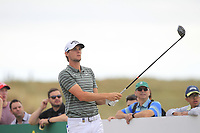 Thomas Pieters (BEL) on the 9th tee during Round 3 of the Dubai Duty Free Irish Open at Ballyliffin Golf Club, Donegal on Saturday 7th July 2018.<br /> Picture:  Thos Caffrey / Golffile