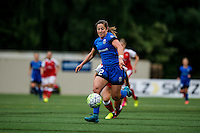 Seattle, WA - Thursday, May 26, 2016: Seattle Reign FC defender Paige Nielsen (12). The Seattle Reign FC of the National Women's Soccer League (NWSL) and Arsenal Ladies FC of the Women's Super League (FA WSL) played to a 1-1 tie during an international friendly at Memorial Stadium.
