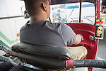 Tuk Tuk driver in traffic of central city area of Colombo, Sri Lanka, Asia