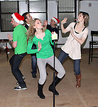 Mark Price, Garth Kravits, Jill Paice, Lauren Molina & Justin Guarini   attending the Rehearsal for the Bucks County Playhouse production of 'It's a Wonderful Life - A Live Radio Play' at their rehearsal studios in New York City on December 5, 2012.