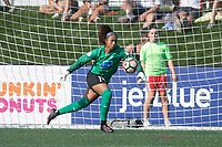 Allston, MA - Saturday August 19, 2017: Abby Smith during a regular season National Women's Soccer League (NWSL) match between the Boston Breakers and the Orlando Pride at Jordan Field.