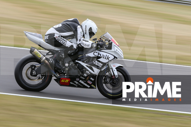 Tom Neave of the Neave Twins team (No. 68) competing in the Pirelli National Superstock 600 Championship during Saturday Qualifying at the 2017 MCE British Superbikes Championship Round 5 at Snetterton 300 at Snetterton Circuit, Norwich, England on 1 July 2017. Photo by David Horn.