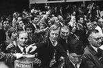 National Front NF meeting after march through Birmingham suburb of Walsall North during a by election 1976. NF members donate to the party collection...