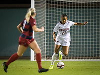 STANFORD, CA - August 30, 2019: Madison Ayson at Maloney Field at Laird Q. Cagan Stadium. The Cardinal defeated the University of Pennsylvania Quakers 5-1.