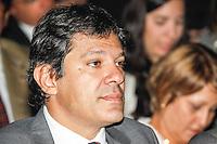 SAO PAULO, SP, 01 DEZEMBRO  2012 - SORTEIO COPA DAS CONFEDERACOES  - O prefeito eleito de Sao Paulo Fernando Haddad e visto durante sorteio dos grupos neste  sabado no Parque Anhembi regiao norte da capital paulista. FOTo: WILLIAM VOLCOV - BRAZIL PHOTO PRESS.