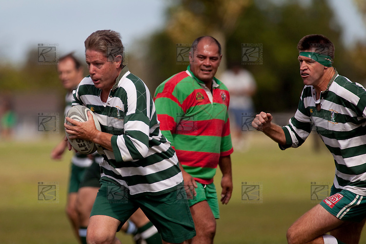 Manurewa-Waiuku Pat Walsh Memorial day Old boys rugby game played at Mountfort Park, Manurewa on Saturday April 4th, 2009. Members from the touring Vancouver Evergreen Rugby Club Golden oldies team played in the Waiuku team as well.