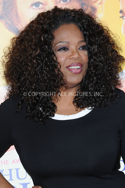 WWW.ACEPIXS.COM<br /> August 4, 2014 New York City<br /> <br /> Oprah Winfrey attending the 'The Hundred-Foot Journey' New York premiere at Ziegfeld Theater on August 4, 2014 in New York City.<br /> <br /> Please byline: Kristin Callahan/AcePictures<br /> <br /> ACEPIXS.COM<br /> <br /> Tel: (212) 243 8787 or (646) 769 0430<br /> e-mail: info@acepixs.com<br /> web: http://www.acepixs.com