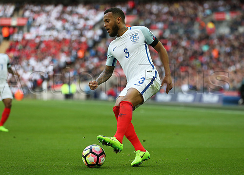 March 26th 2017, Wembley Stadium, London, England; World Cup 2018 Qualification football, England versus Lithuania; Ryan Bertrand of England on the ball